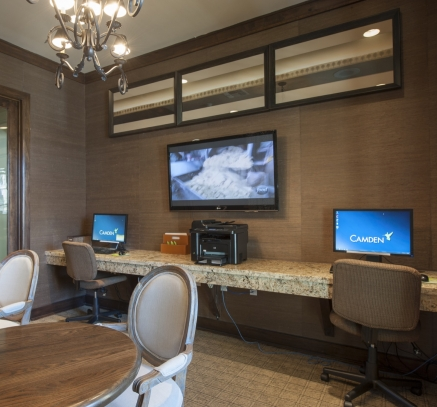 Business Center at Camden Downs at Cinco Ranch Apartments in Katy, Texas