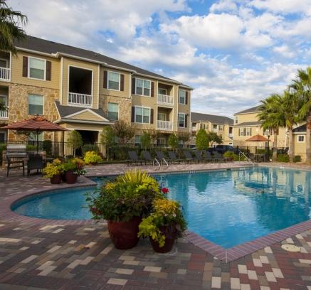 Pool at Camden Downs at Cinco Ranch Apartments in Katy, Texas