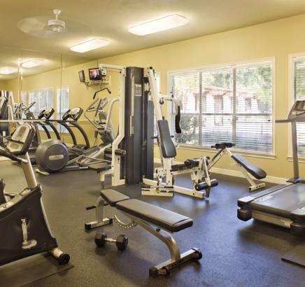 Fitness Center at Camden Huntingdon Apartments in Austin, TX